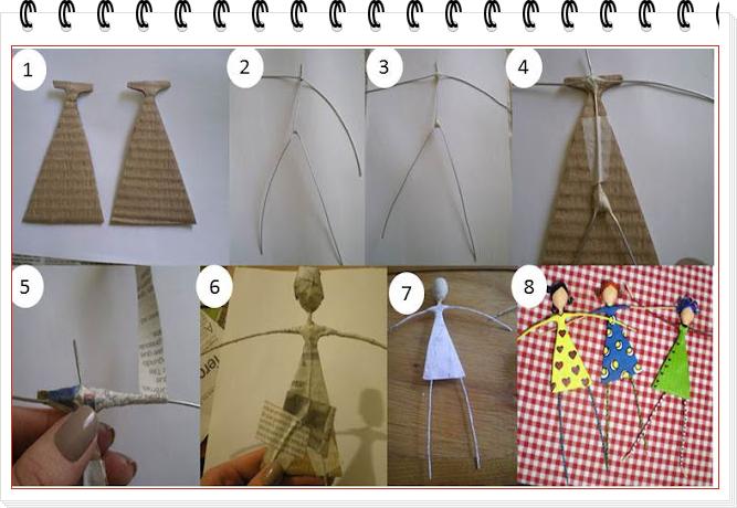 Como hacer Figuras Decorativas de Alambre y Carton
