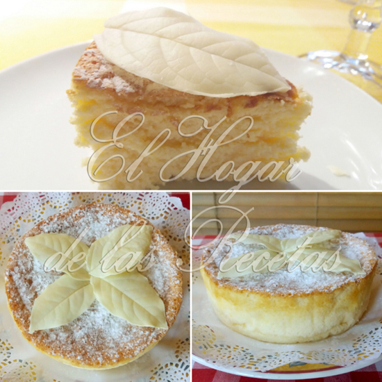 Cheesecake o tarta de queso y chocolate blanco decorada con hojas de chocolate balanco