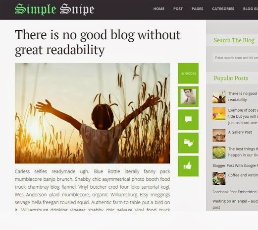 Simple Snipe Blogger Template