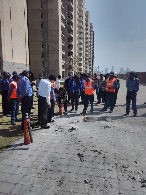 TULIP  INFRATECH CONDUCTED FIRE  FIGHTING MOCK  DRILL