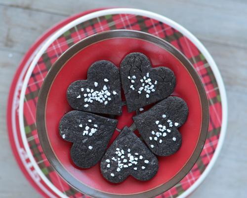 Chocolate Shortbread Cookies ♥ KitchenParade.com