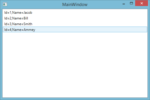 WPF Listview with ItemTemplate binding using EDMX file