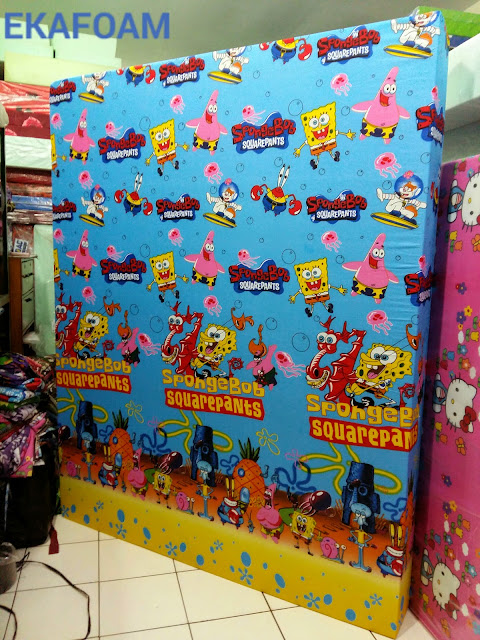 kasur busa inoac motif spongebob