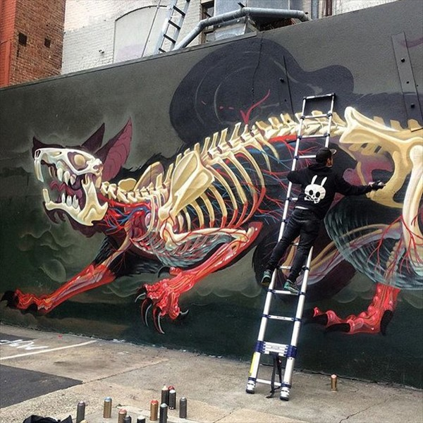 Powerful drawings by the artist NYCHOS