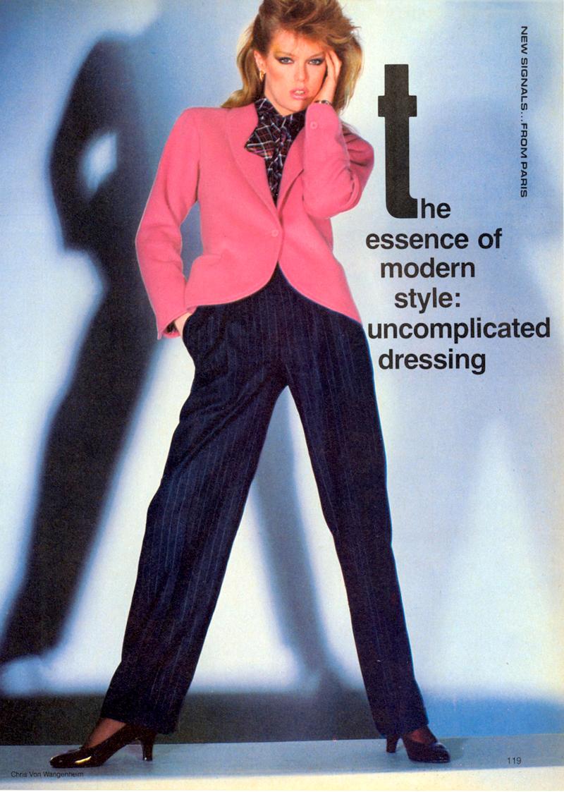 Yves Saint Laurent in Vogue US january 1981 (photography: Chris Von Wangenheim) via www.fashionedbylove.co.uk
