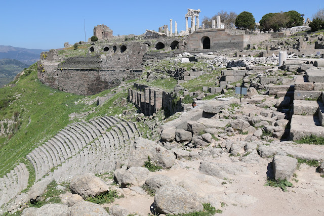 The remains of archaelogical ruins from the ancient Roman city of Pergamon