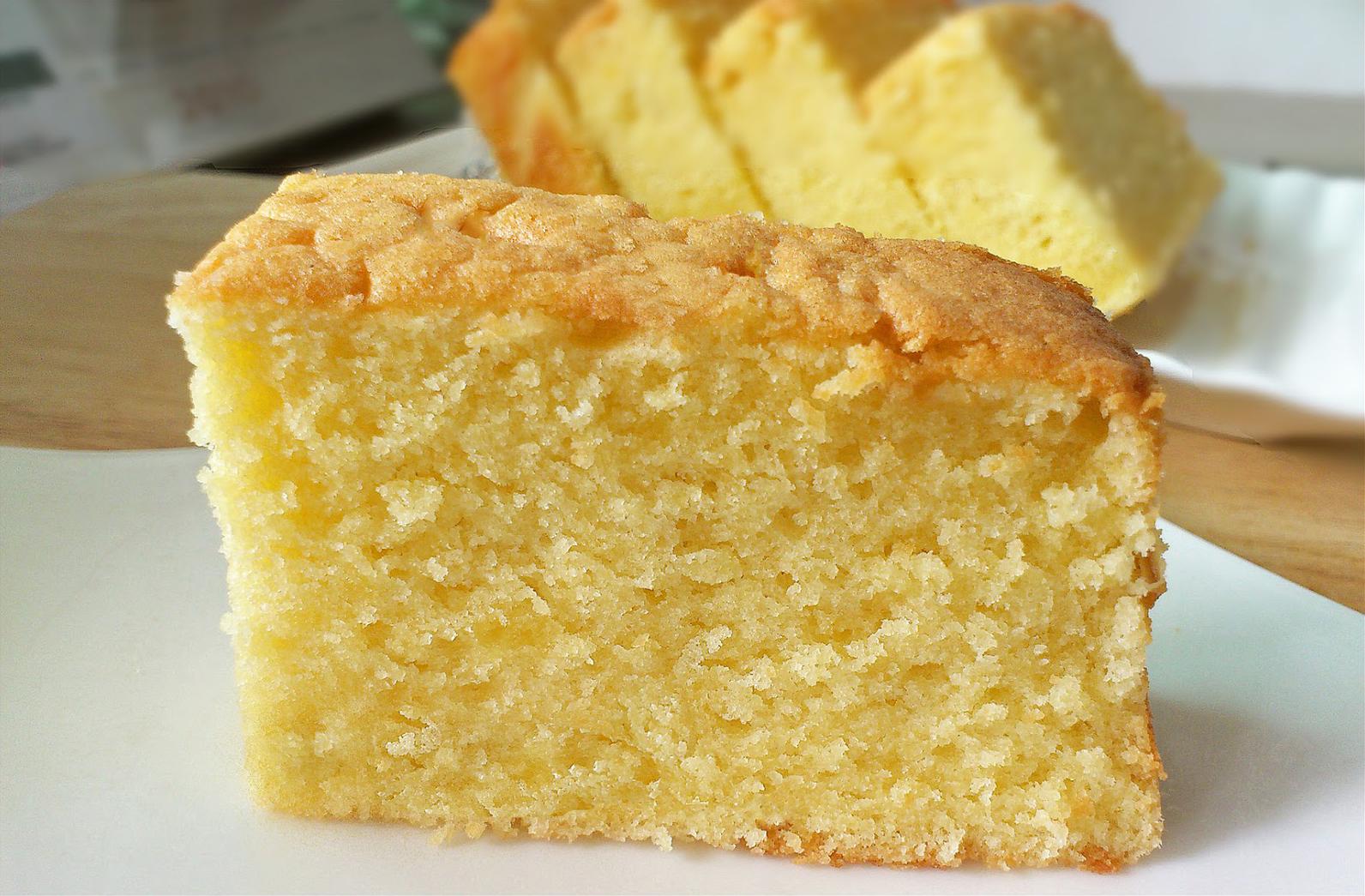 slice of butter cake