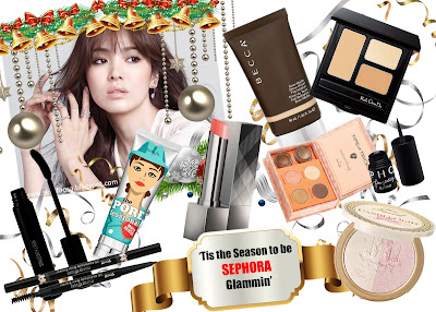 Tis the season to be Sephora Glammin - Christmas Look no make up look christmas party 2016