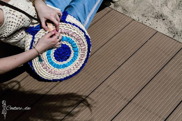 circle basket bag, boho, torba, koszyk, maroko