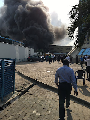 Tanker Explosion Causes Fire Outbreak In Victoria Island, Lagos