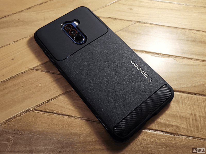 low priced c2241 67c1d Spigen Rugged Armor case for POCOPHONE F1 now available