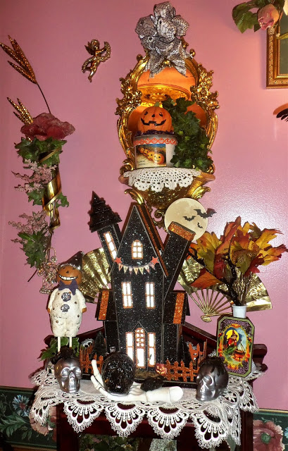 Halloween Vignettes in the Dining Room, 2018