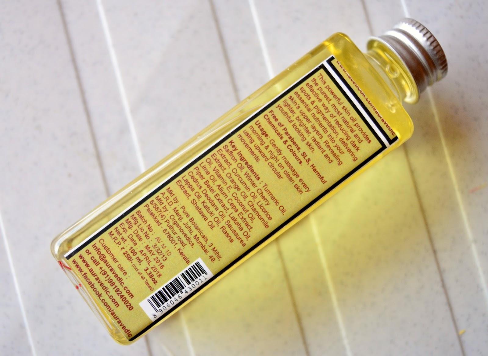 Auravedic Skin Lightening Oil Review