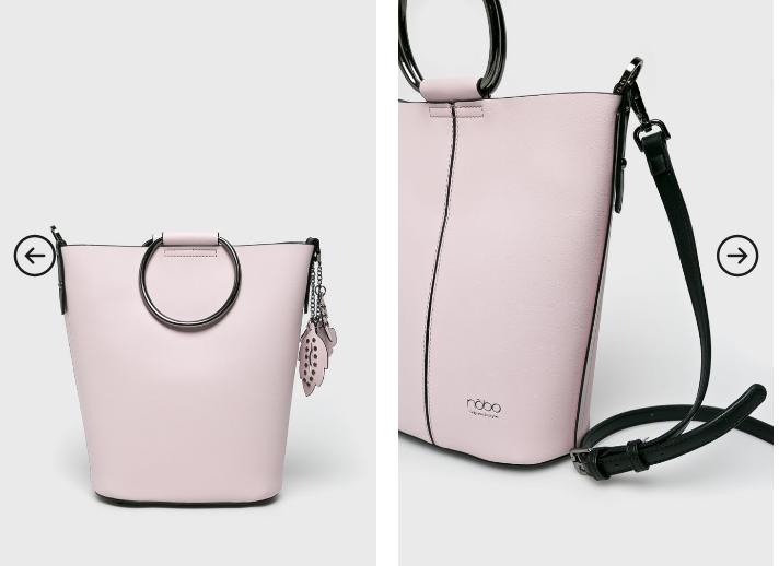 Nobo - Poseta roz mare cu manere metalice casual