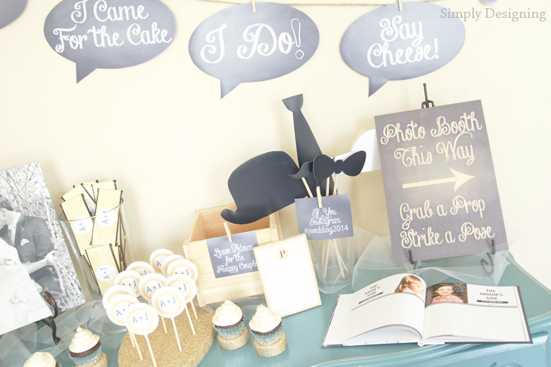 Rustic Glam Wedding Sign-In Table   #wedding #shutterflywedding @shutterfly #photobooth #printable