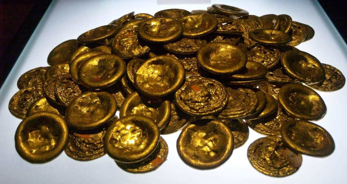 Monedas de oro y herencia yacente