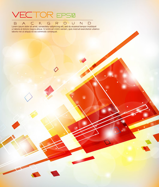 Colorful Abstract Elements  Vector Free Vector