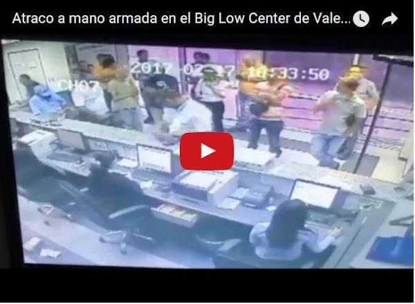 El atraco en el Big Low Center de Valencia