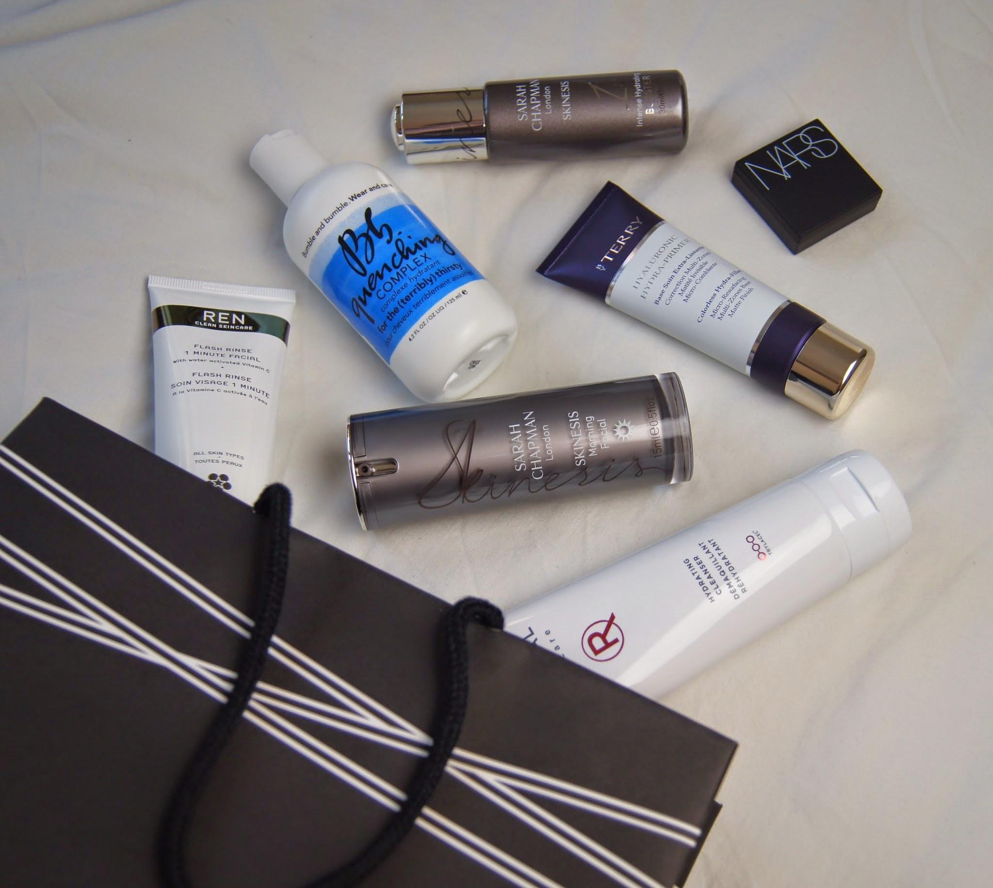 Space NK splurge beauty haul Nars By Terry Sarah Chapman REN Skincare Radical Bumble & Bumble