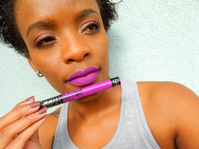 Kat Von D Everlasting Liquid Lipstick 'L.U.V' swatch - www.modenmakeup.com