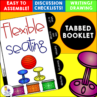 flexible seating tabbed booklet by Sugar Cube Learning Resources