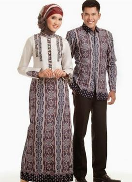 desain baju batik couple terbaru