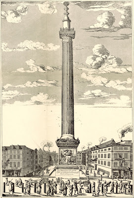 The Monument c1720 from History of the Monument by C Welch (1893)