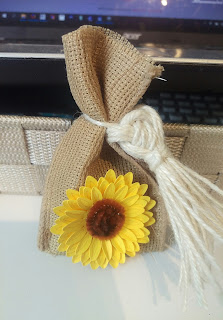 Fall Sunflower seed bag with intricate tassel
