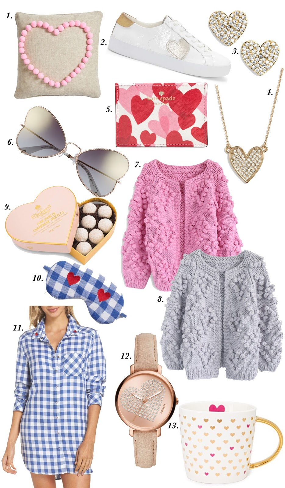 25 Heart Items - See them all on Something Delightful Blog