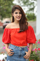Rhea Chakraborty in Red Crop Top and Denim Shorts Spicy Pics ~  Exclusive 163.JPG