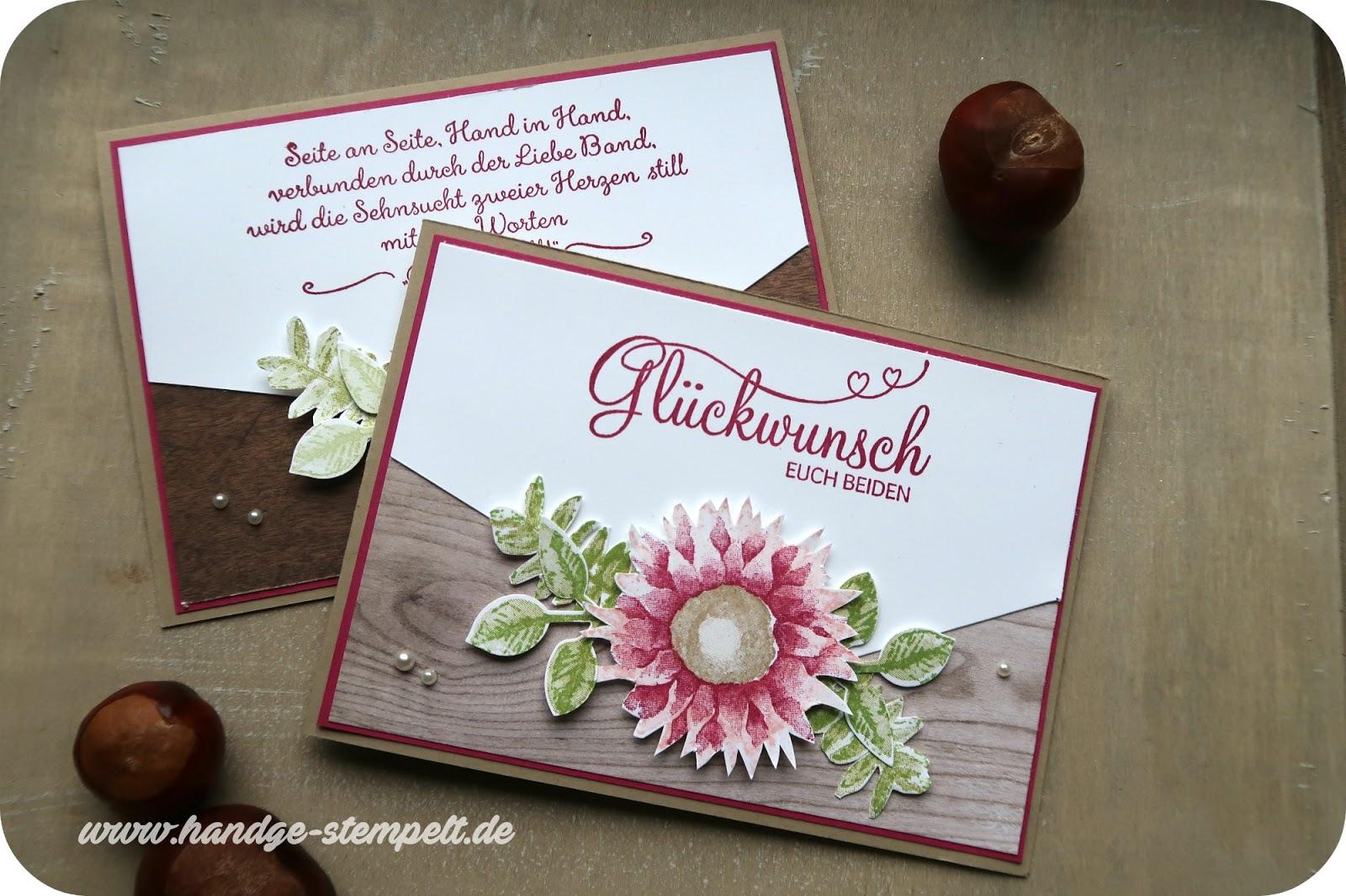Claudinchens Kreative Seite Herbstliche Hochzeitskarten