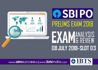SBI PO Prelims Exam Analysis 8th July 2018: 03rd Slot