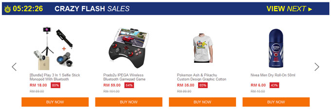Lazada Flash Sale Unity Sale 2016