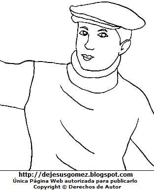 Dibujo de Jorge Chávez para colorear pintar imprimir. Imagen de Jorge Chávez hecho por Jesus Gómez