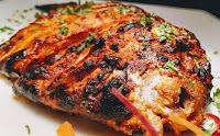 Crisp Golden cooked tandoori Pomfret for Tandoori Pomfret Recipe