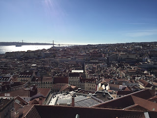 Panoramic view from Castelo de S. Jorge