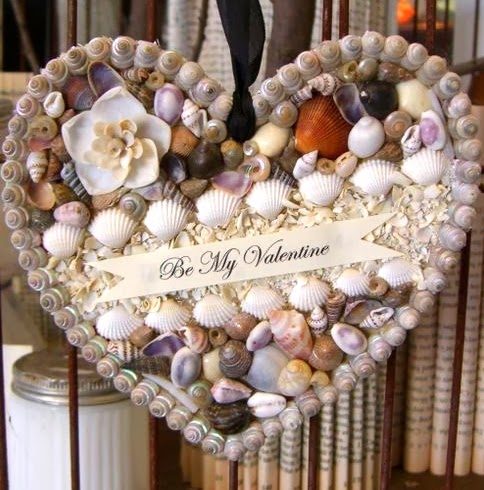be my valentine shell heart