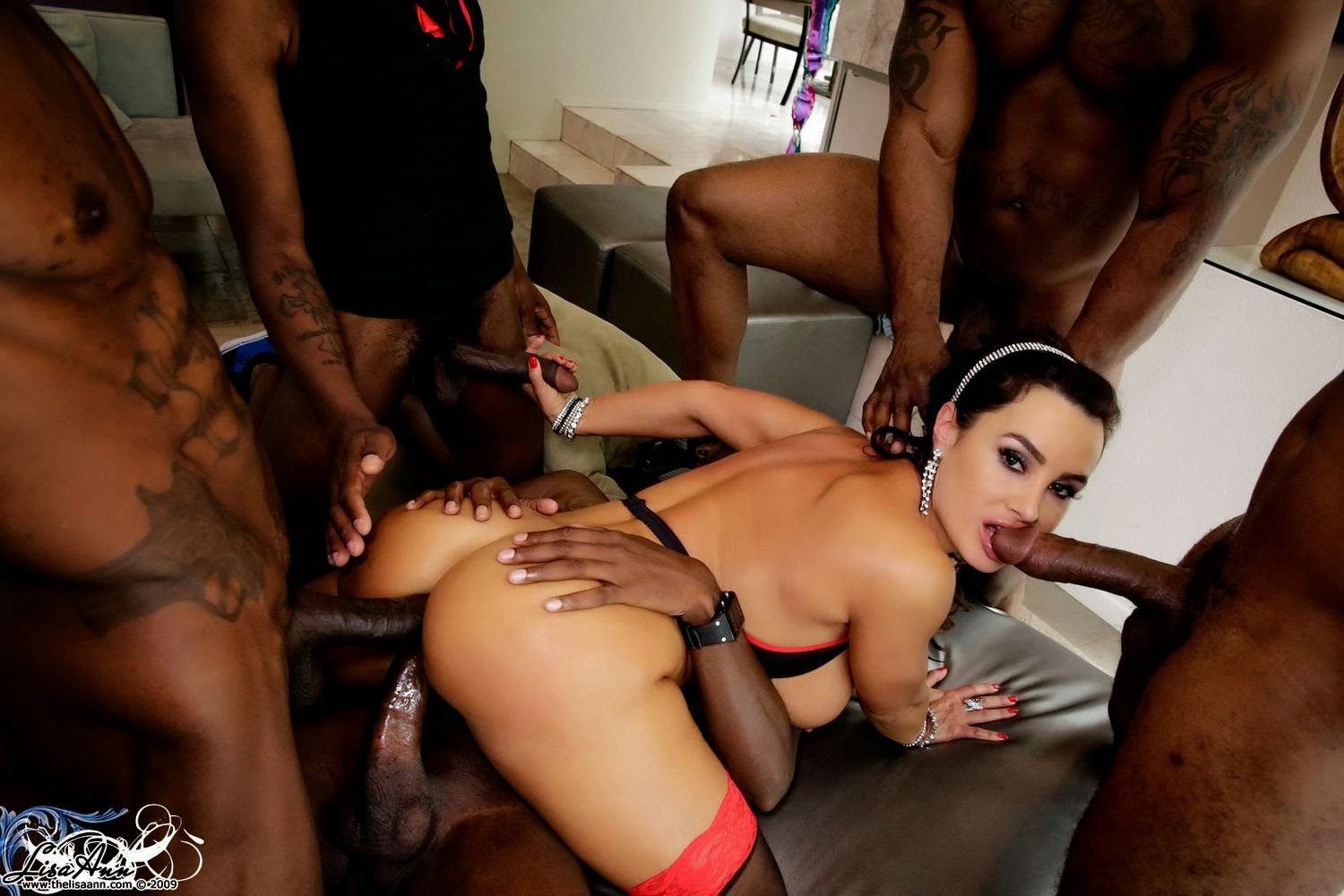 Abigaile johnson gets gangbanged by black cocks - 3 part 8