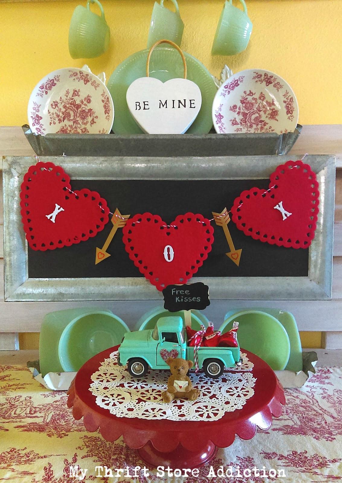 whimsical vintage Valentine vignettes