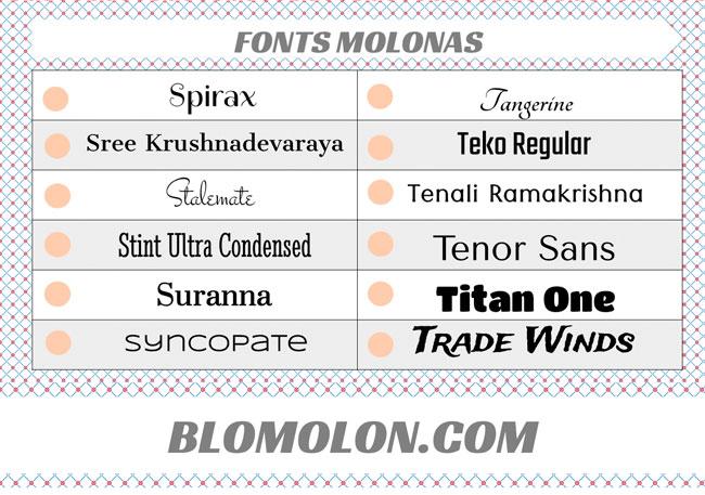 fonts molonas 17
