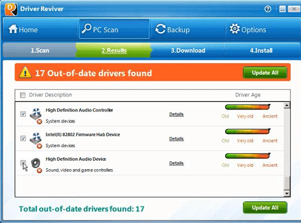 برنامج Driver Reviver لتحميل وتحديث تعريفات الحاسوب واخد نسخة إحتياطية للتعريفات