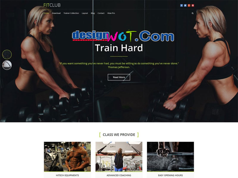 FitClub WordPress Theme