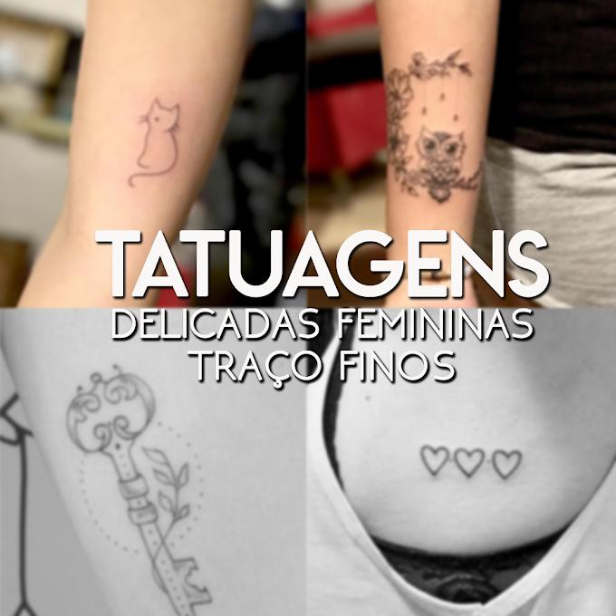 Tatuagens Delicadas: Femininas - Traço Finos