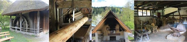 Edifici pubblici della comunità della Foresta Nera: il Mulino ad acqua, la segheria, il forno e la fucina