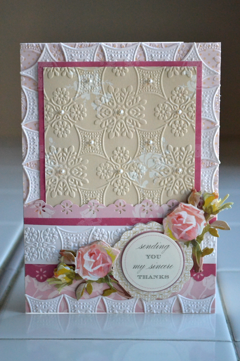 Aly Dosdall Anna Griffin Cuttlebug Embossing Folders Part 1