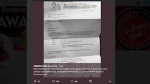 Beredar Surat TKD Jokowi Minta Bantu Konsumsi ke Semen Gresik untuk Acara Dukung 01