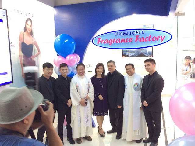 May 13, I attended the back-to-back Blessing and Grand Opening of Chemworld Fragrance Factory and SkinStation at the 3rd level, Digital Exchange, in Glorietta 3, Makati, Philippines.