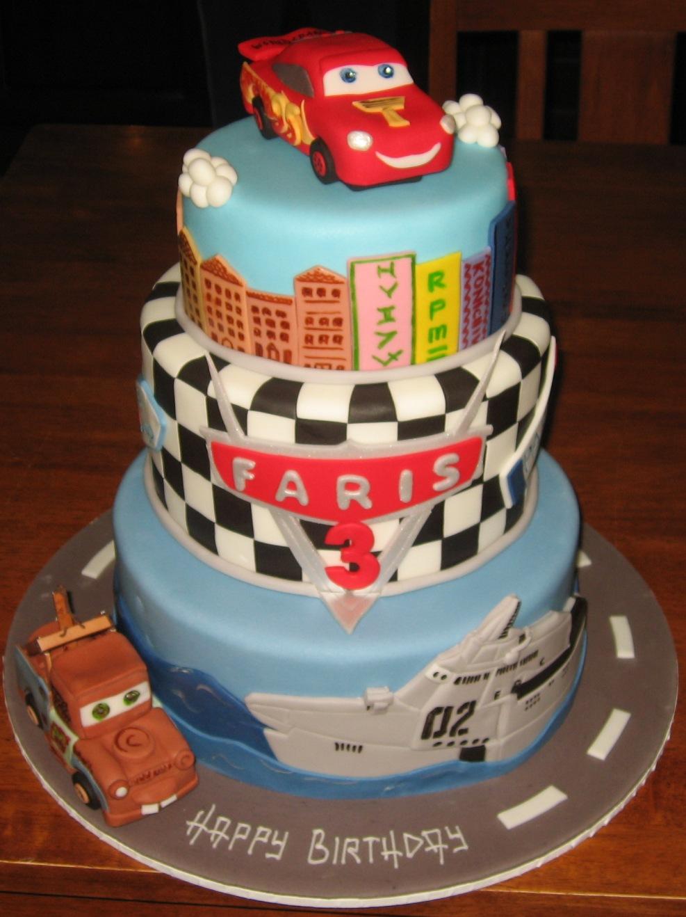 Let Them Eat Cake Three Tier Cars 2 Cake