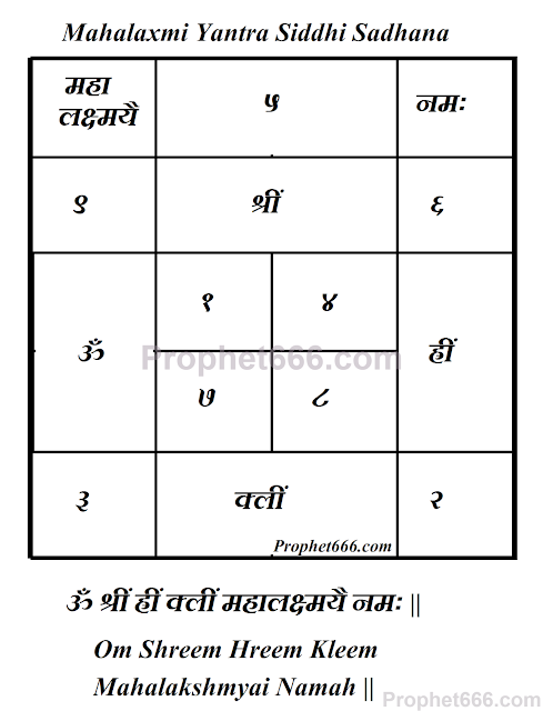 Mahalaxmi Yantra Mantra Siddhi Sadhana for Money and Valuables