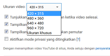 Memasukkan Video YouTube ke Postingan Blog